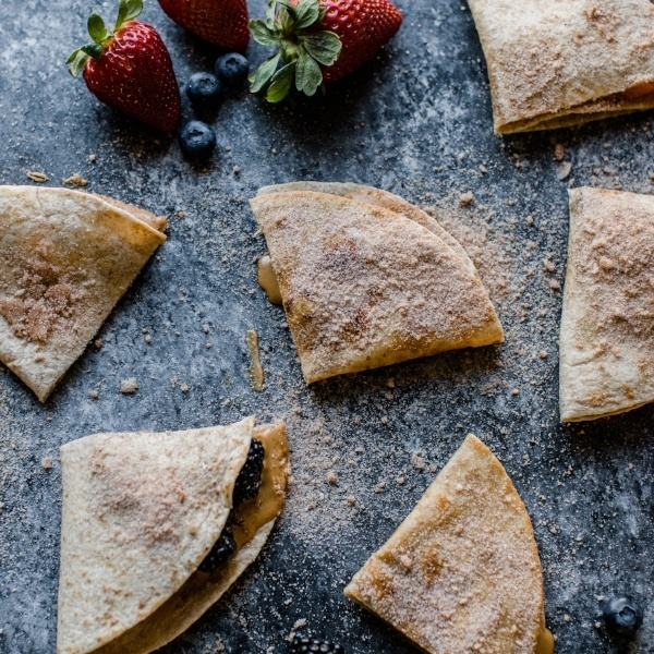 Cinnamon Sugar Quesadillas