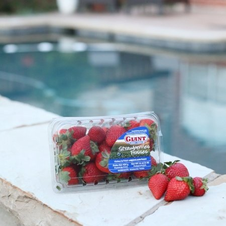 Strawberries at the Pool - Summer Snacking