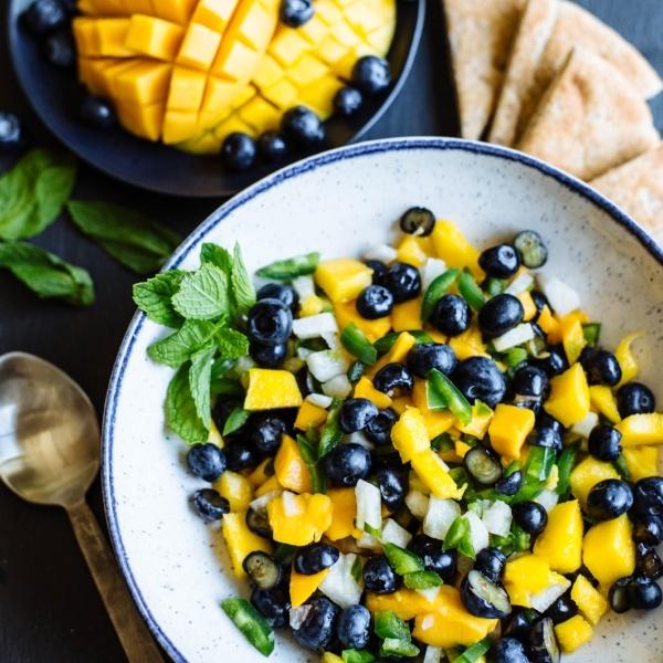 Blueberry Jicama Mango Salsa