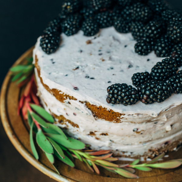 Blackberry Pumpkin Spice Cake