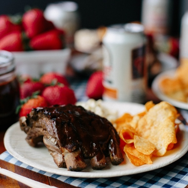 Strawberry Ancho BBQ Ribs - Summer Snacking