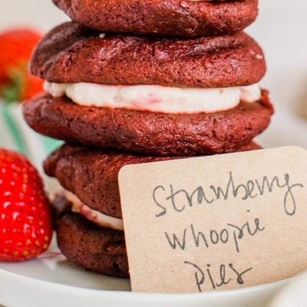 Red Velvet & Strawberry Whoopie Pie