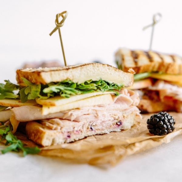 Turkey and Apple Sandwiches - Summer Snacking