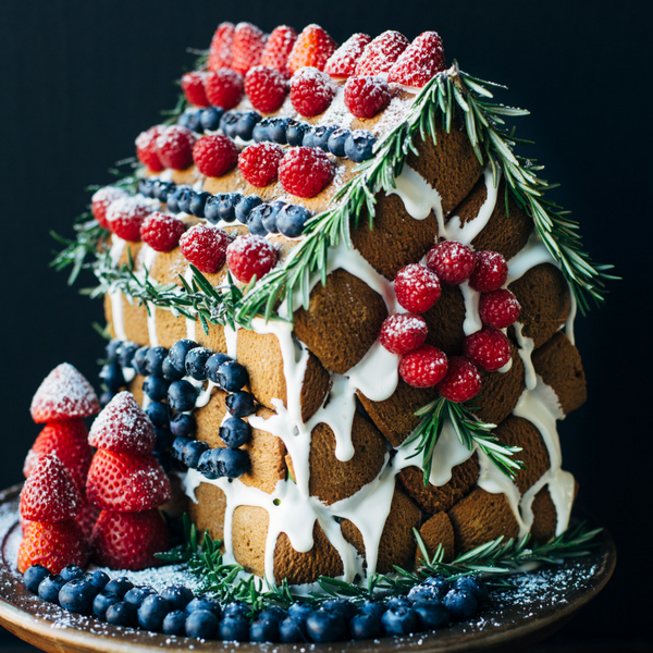 A Berry Merry Gingerbread House