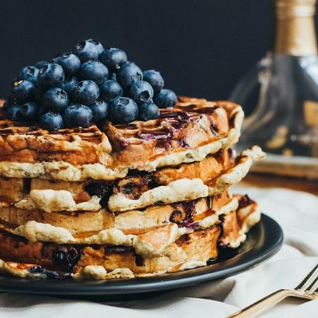 Paleo Blueberry Waffles