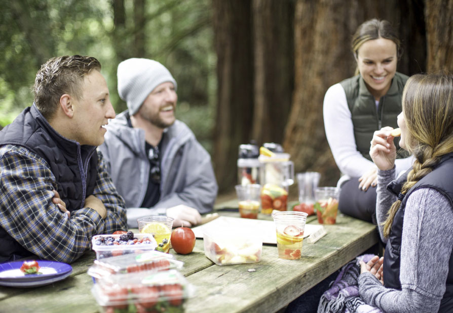 friends enjoying a picnic