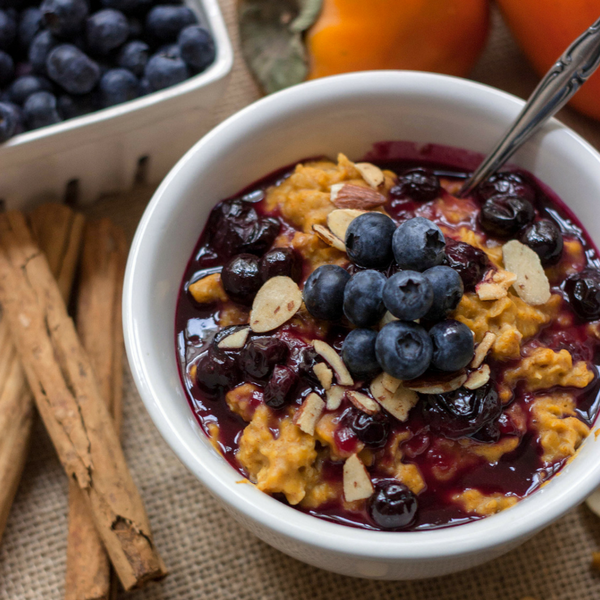 Easy Blueberry Pumpkin Oatmeal