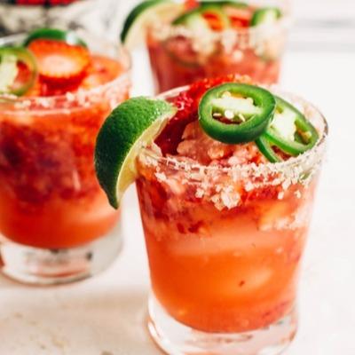 strawberry jalapeno margarita